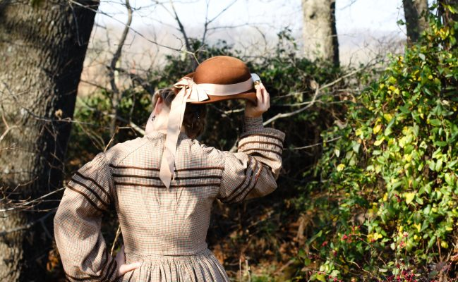 1860's Work Dress – Civil War Era – Homespun Fabric from JoAnns