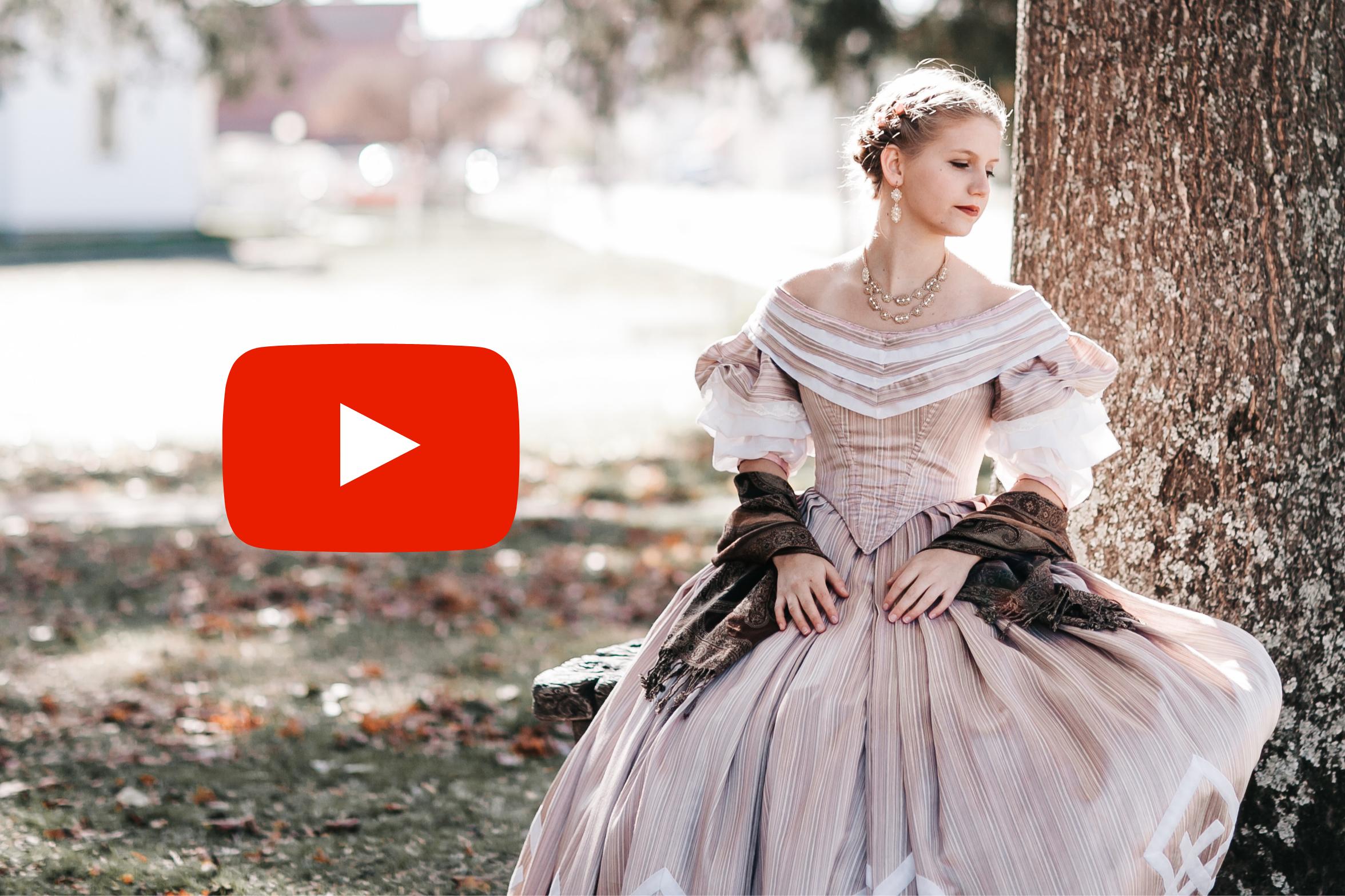 1860's Evening Attire – Civil War Era Ballgown – Video